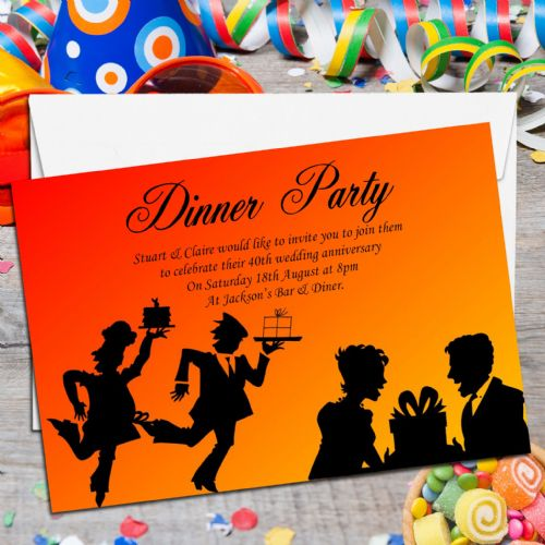 10 Personalised 'Come Dine with me' Dinner Party Invitations No1